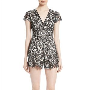 ALICE + OLIVIA Tinsley Lace Romper